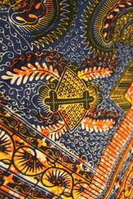 APPLEJACKS: African Batik Fabric: Veritable Wax Hollandais