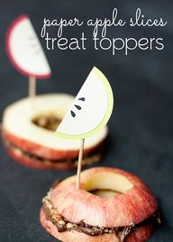 Paper Apple Slices T