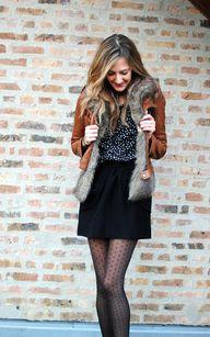 Fur vest under leath