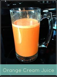 Orange Cream Juice
