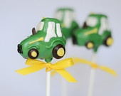 Tractor Cake Pops