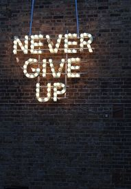 Never give up. #redb