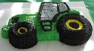 Cool tractor cake.