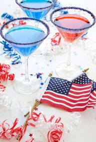 Cocktail rim sugar - just in time for Memorial Day - in our red, white & blue blend. By Dell Cove Spice Co. on Etsy. (Photo by Selena Vallejo Photography.)