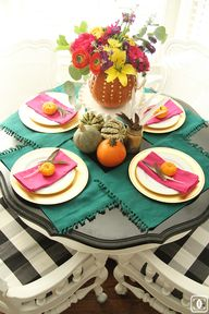 Festive fall table -