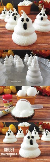 Ghost Meringues for