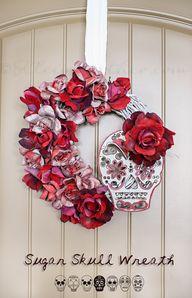 Sugar Skull Wreath o
