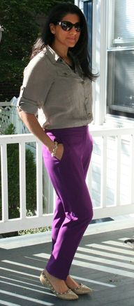 Purple and Khaki | C