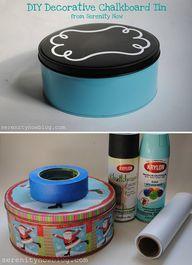 DIY - Chalkboard Tin