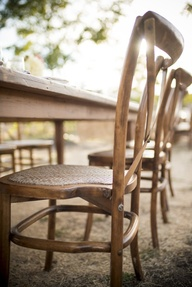 Sunlit farm table go
