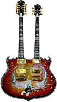 Minarik Trinity Doubleneck Guitar.
