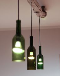 Recycled glass wine