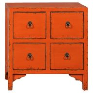 Bright orange table