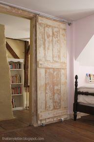 DIY barn door and ha