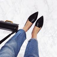 jeans with flats   T