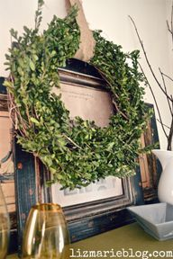 DIY boxwood wreath-