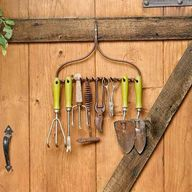 salvaged garden rake