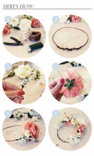 DIY. flower crown