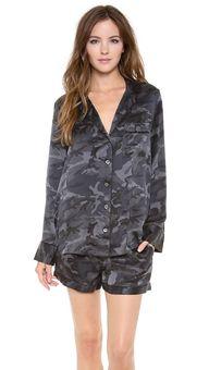 silk camo pajama set