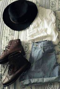 lace top, hat, indie