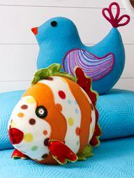 Fleece Pattern - Fleece Throw Pillow - 365 Free Craft Patterns - A