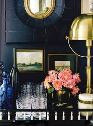 Love this nook, gold