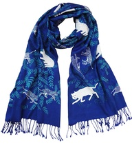 Big Cats Scarf - Blu