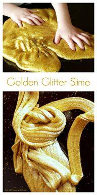 Golden Glitter Slime