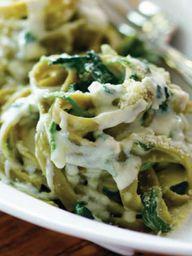 Creamy Spinach Fettu