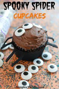 Spooky Spider Cupcak