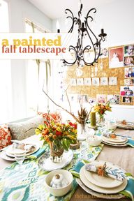 a painted fall table