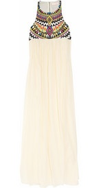 tribal neckline maxi - great with statement earrings & wedges.