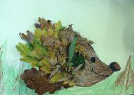 Autumn leaf hedgehog