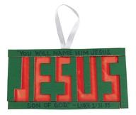 Jesus Wood Suncatche