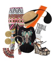 """TRIBAL CHIC"" by msmiminyc ❤ liked on Polyvore"