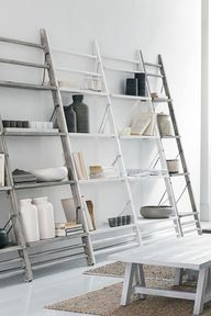 Leaning Shelves in A