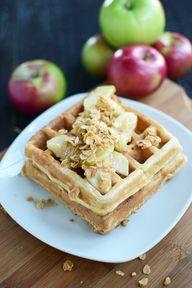 Apple Granola Waffle