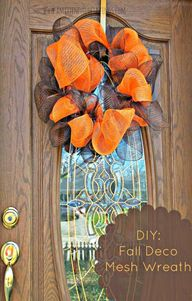 Deco Mesh Wreath  -