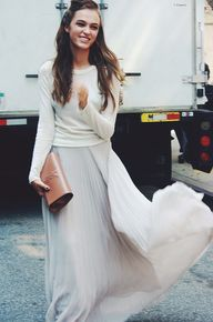 maxi skirt + lightwe
