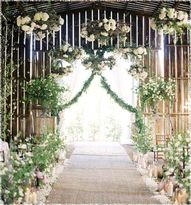 Lantern wedding aisl