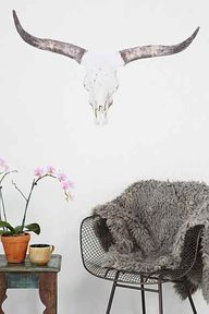 Cow Skull Wall Decal
