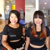 hair cut color befor