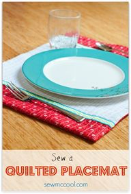 Sew a quilted placem