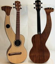Harp uke by Pete Howlett      Tenor Harp Ukulele by Pete Howlett from Wales.    WALES!