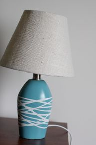 spray paint lamp