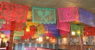 Colorful papel picad