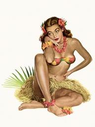 Pin up - Hawaii
