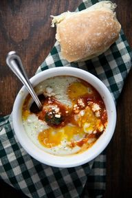 baked eggs in spicy