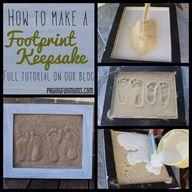 DIY Plaster Footprin