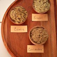 Fennel, coriander an